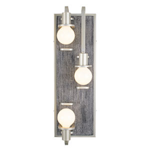 Lofty Silverado And Gray Three-Light Wall Sconce