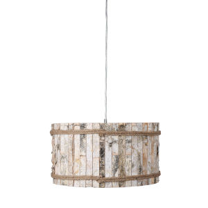 Woody Brushed Nickel 19-Inch One-Light Pendant