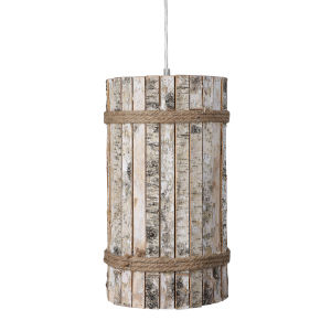 Woody Brushed Nickel 10-Inch One-Light Pendant