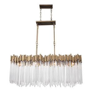 Matrix Havana Gold Eight-Light Pendant