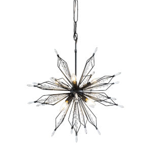 Orbital Carbon Eight-Light Pendant