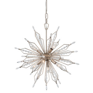 Orbital Gold Dust Eight-Light Pendant