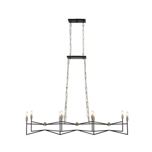 Bodie Havana Gold and Carbon Eight-Light Linear Pendant