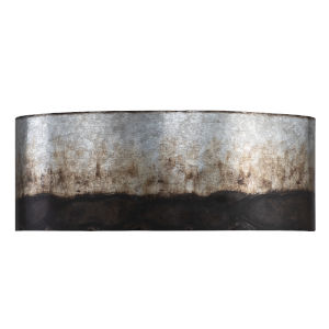 Cannery Ombre Galvanized Two-Light Bath Vanity