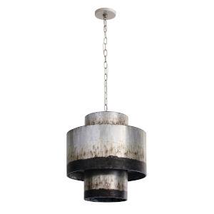 Cannery Ombre Galvanized Three-Light Pendant