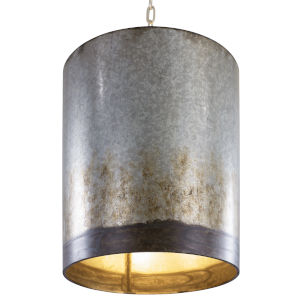 Cannery Ombre Galvanized Three-Light Pendant