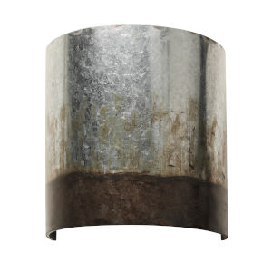 Cannery Ombre Galvanized One-Light Wall Sconce