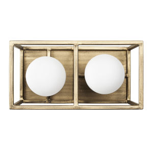 Plaza Havana Gold And Carbon Two-Light LED ADA Bath Vanity