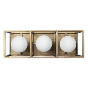 Plaza Havana Gold And Carbon Three-Light LED ADA Bath Vanity