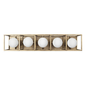 Plaza Havana Gold And Carbon Five-Light LED ADA Bath Vanity
