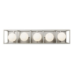 Plaza Silverado And Carbon Five-Light LED ADA Bath Vanity