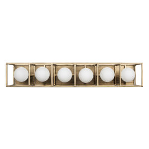 Plaza Havana Gold And Carbon Six-Light LED ADA Bath Vanity