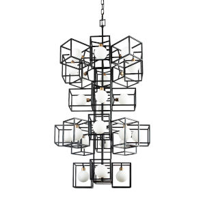 Plaza Carbon And Havana Gold 24-Light LED ADA Pendant