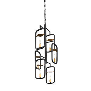 Bar None Aged Gold And Rustic Bronze 16-Inch Six-Light Pendant