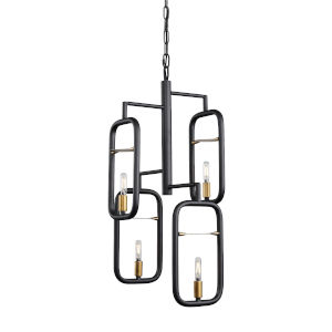 Bar None Aged Gold And Rustic Bronze 13-Inch Four-Light Pendant