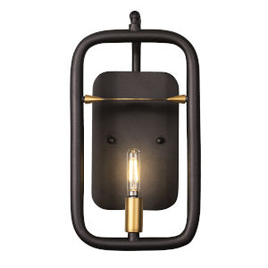 Bar None Aged Gold And Rustic Bronze One-Light Wall Sconce