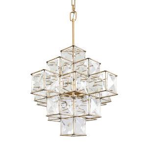 Cubic Calypso Gold Six-Light Chandelier