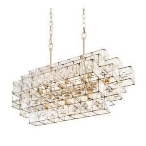 Cubic Calypso Gold 41-Inch 14-Light Light Pendant