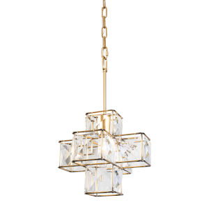 Cubic Calypso Gold One-Light Pendant