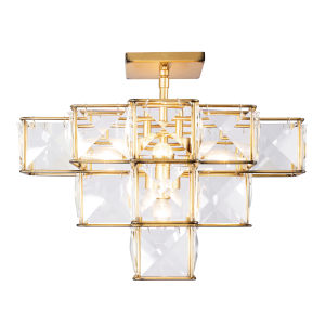 Cubic Calypso Gold Five-Light Semi Flush