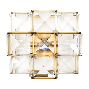 Cubic Calypso Gold Three-Light Wall Sconce