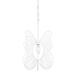 Monarch White One-Light Mini Pendant