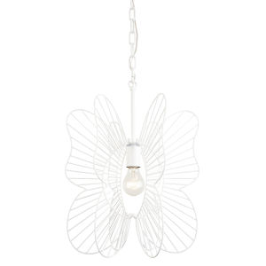 Monarch White One-Light Pendant
