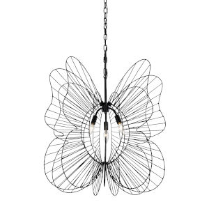Monarch Black Three-Light Pendant