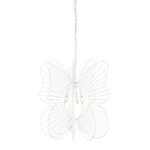 Monarch White Three-Light Pendant