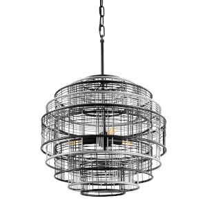 Vivienne Black and Gray Three-Light Pendant