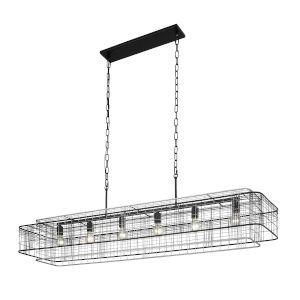 Vivienne Black and Gray 16-Inch Six-Light Pendant