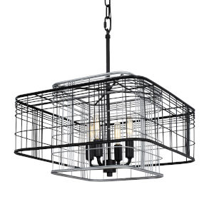 Vivienne Black and Gray 16-Inch Four-Light Pendant