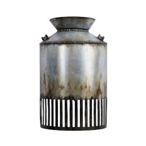Hickory Lane Ombre Galvanized and Black One-Light Sconce