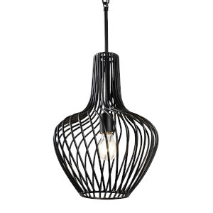 Elsa Black 12-Inch One-Light Pendant
