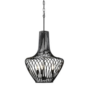 Elsa Black 16-Inch Three-Light Pendant