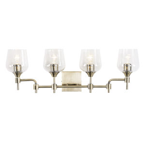 Margaux Antique Brass Four-Light Bath Vanity