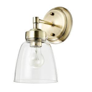 Helena Antique Brass One-Light Bath Vanity