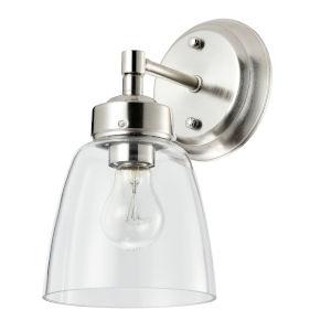 Helena Satin Nickel One-Light Bath Vanity