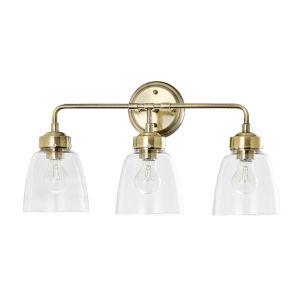 Helena Antique Brass Three-Light Bath Vanity