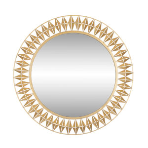 Forever French Gold Round Wall Mirror