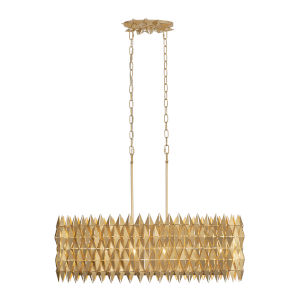 Forever French Gold Six-Light Linear Pendant