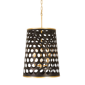 Bailey Matte Black French Gold Four-Light Pendant