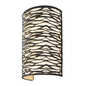 Kato Carbon Black Two-Light Wall Sconce