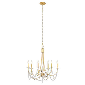 Brentwood French Gold Six-Light Chandelier