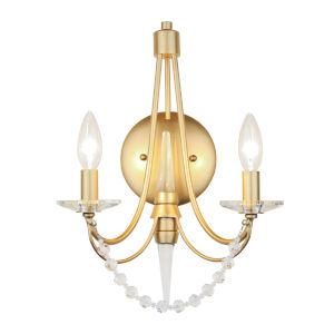 Brentwood French Gold Two-Light Wall Sconce
