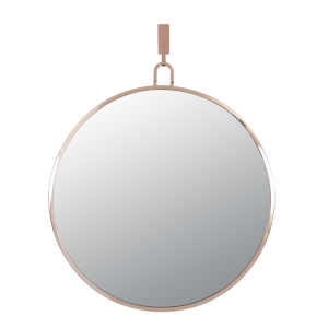 Stopwatch Rose Gold Round Accent Mirror