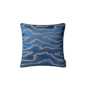 Casa Blue and Silver 18-Inch Throw Pillow
