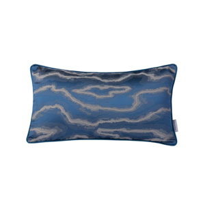 Casa Blue and Silver 11-Inch Throw Pillow