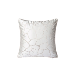 Casa White and Silver 18-Inch Throw Pillow