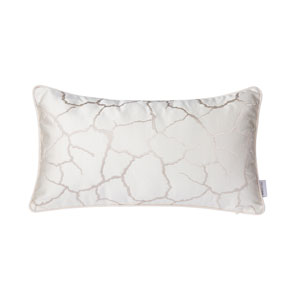 Casa White and Silver 11-Inch Throw Pillow